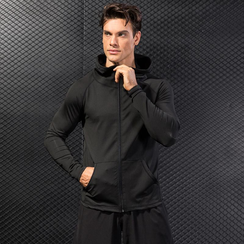 <b>Logo Custom Black Men Fitness Gym Clothes Sports Pullover H</b>