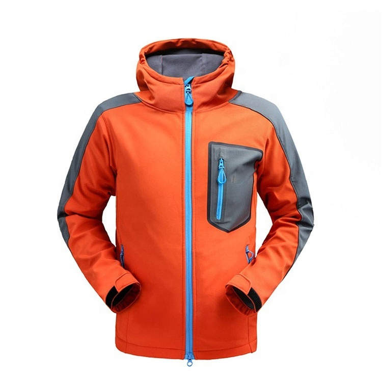 Casual Men Waterproof And Windproof Performance Softshell Ja