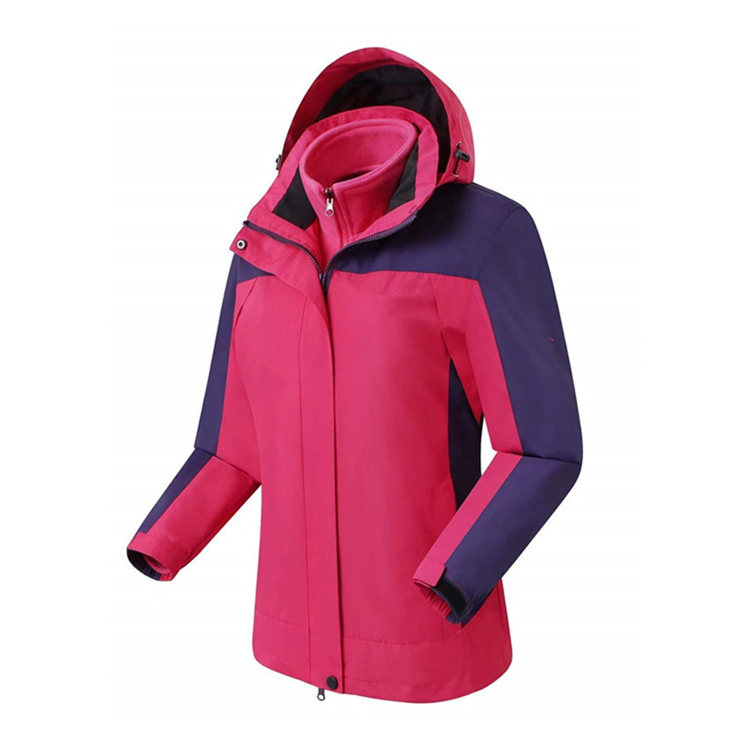3 in 1 Womens Waterproof Outdoor Jacket with Removable Quilt
